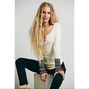 Free People Ivory Alpine Sweater Cuff Thermal